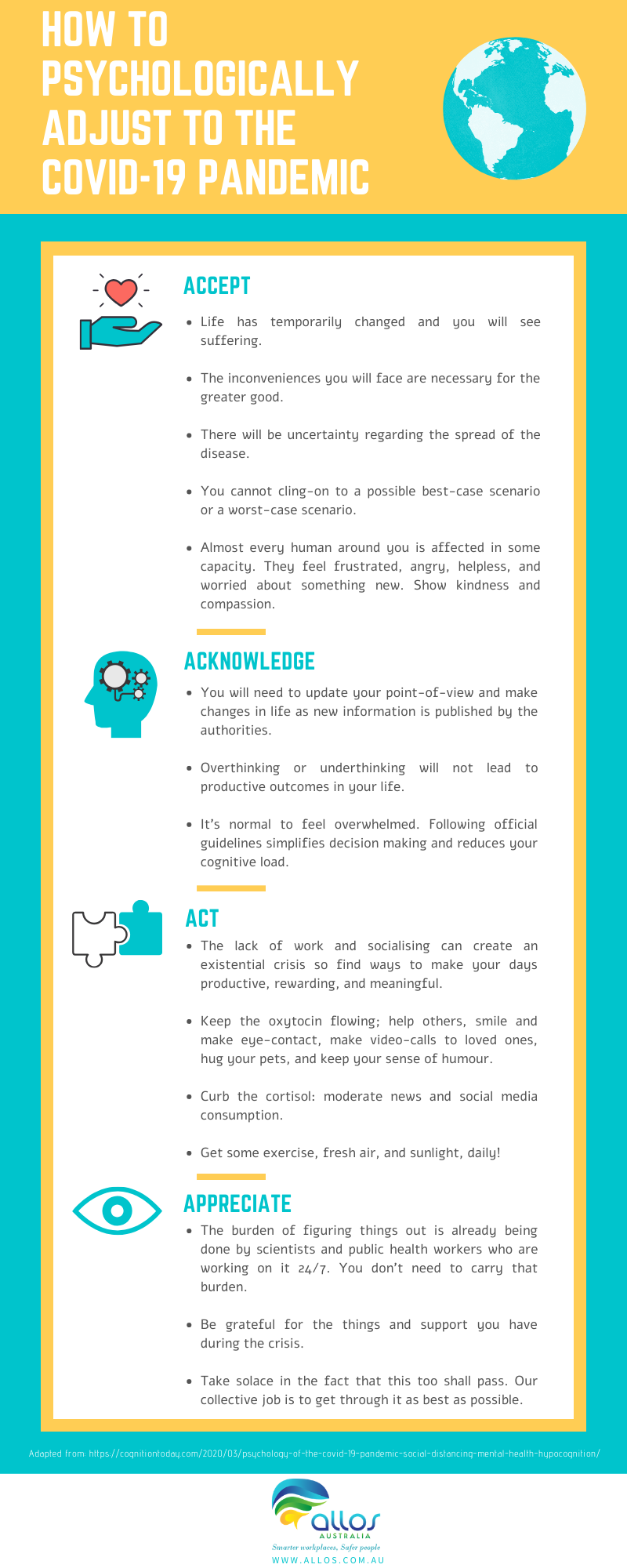 How to psychologically adjust to COVID19 - infographic 1